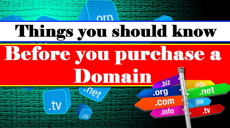 Purchase Domain Name Things to Know Before you Register